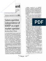 Manila Standard, Feb. 10, 2020, Solons question independence of IEMOP as a spot market operator.pdf