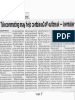 Philippine Star, feb. 10, 2020, Telecommuting may help contain nCoV outbreak - lawmaker.pdf