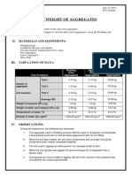 Unit weight of aggregates report
