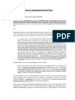 Validity of the submission of a Supplemental Position Paper