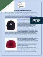 How to Design Stunning Baseball Caps