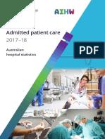 Australia Hospitals at a Glance 2017-'18