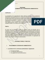 1. PROGRAMA DE PROCEDIMIENTO DE LO CONTENCIOSO ADMINISTRATIVO