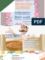 Specialitati culinare - TURISM, CLS A 9-A