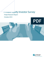 Preqin Private Equity Investor Survey Oct2010