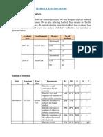 feedback analysis report