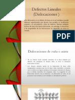 Defectos Lineales (Dislocaciones ) 1.1