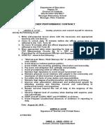 1Teacher Performance Contract