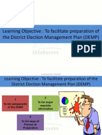 District Election Mangement Plan- As on January, 2014