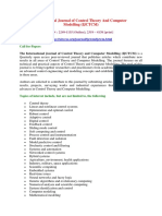 International Journal of Control Theory And Computer Modelling(IJCTCM)