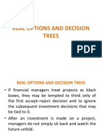 REAL OPTIONS AND DECISION TREES