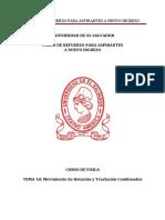 Física Tema 18 Movimiento de Rotación y Traslación Combinados Versión pdf