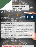 Finals Lesson 1. Consumer Buying Behavior