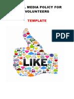 5.3.8 Volunteers Social media policy - Template