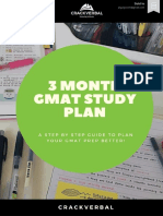 3 Month Study Plan gmat