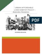 Draft Urban Housing Policy