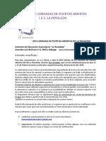 XXVI Jornadas de Puertas Abiertas IES La Rosaleda 2020