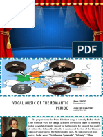 Vocal music of the romantic period