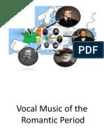 vocal music of romantic