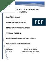reporte examen