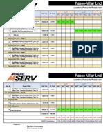 Bar Chart Schedule (Paseo-Villar Underpass) May 28 '19 MSERV