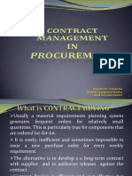 Contract Management in Procurement