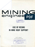 Resins in Mine Roof Support_I