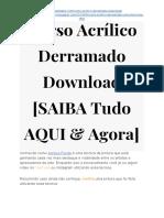→ Curso Acrílico Derramado PDF Baixar [SAIBA Tudo AQUI]