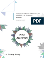 PPT Initial Assesment (Primary and Secondary Survey) & EWSS & AB Managemnt