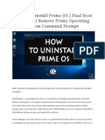 How To Uninstall Prime OS