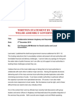 Written Statement by the Welsh Assembly Government