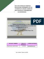 TRABAJO DOCUMENTAL LA CARGA DE LAS PRUEBA 05022020