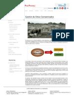 Gestión de Sitios Contaminados _ Dirección General de Calidad Ambiental