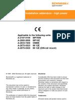 Application and Installation Addendum - High Power Optical System