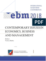 THE (NO)ALIGNMENT OF COSTING AND ENTERPRISE MANAGEMENT CONCEPTS WITH LEAN BUSINESS CONCEPT- EBM 18