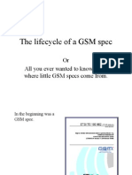 GSM Spec Lifecycle