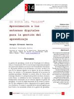 """Icono14. A8/ESP. En busca del """"Auleph"""". Aproximación a los entornos digitales para la gestión del aprendizaje"""