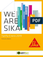 catalogo y tarifa 2019