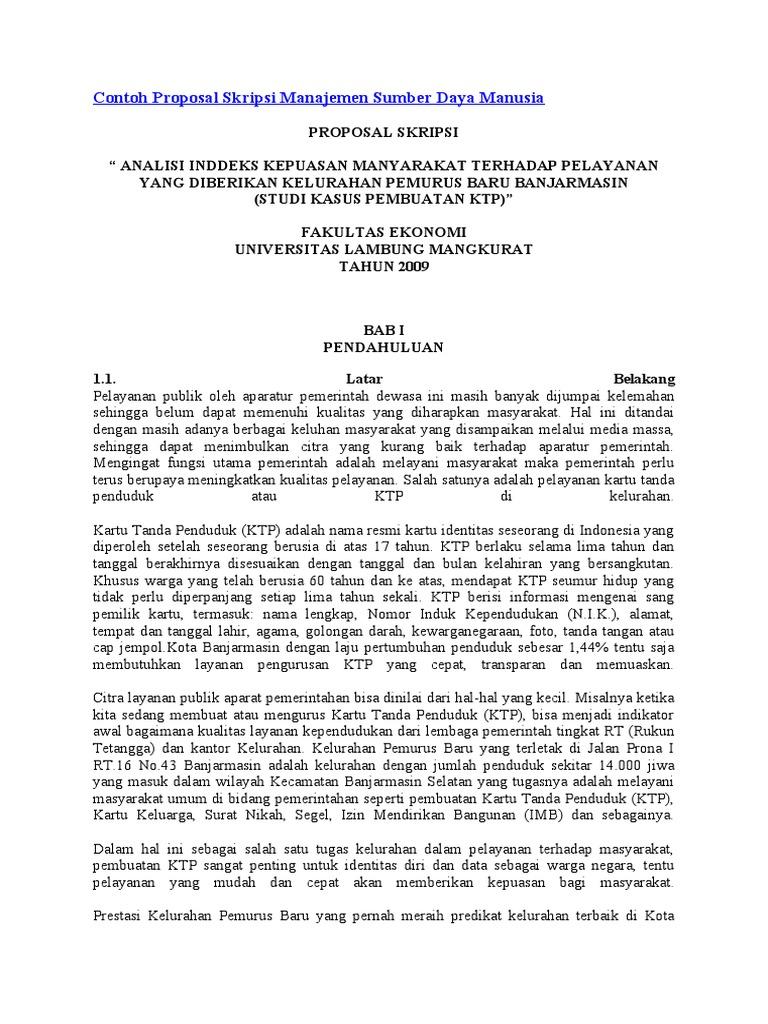 Contoh Soal Dan Materi Pelajaran 2 Contoh Proposal Skripsi