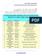 Bank taglines and headquaters- Team MME