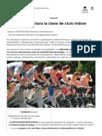 Cómo se estructura la clase de ciclo indoor - CIM Formación