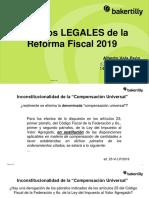 Aspectos legales de la Reforma Fiscal 2019