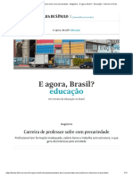 Carreira de professor sofre com precariedade - Magistério - E agora, Brasil_ - Educação - Folha de S.Paulo