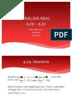 Analisis real Jumriani 4.29 - 4.32