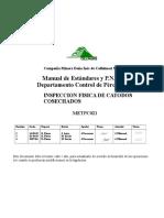 METPC021 Inspección Física de Cátodos