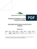 METPC040 Muestreo de Extractante
