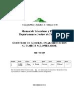 METPC035 Muestreo Alimentación Tambores Agomeradores