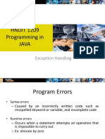 OOPLecture9Exception Handling