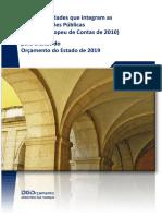 Lista de entidades públicas - Orçamento do Estado 2019