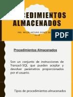 Procedimientos Almacenados WPB